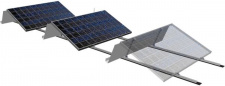 Mounting system TRIC AERO on flat roof (5kW)