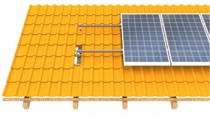 Montavimo sistema ant šlaitinio čerpių stogo CORAB(5kW-10kW)